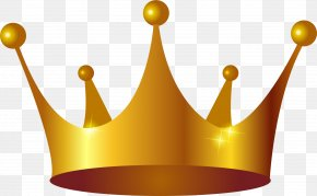 Golden Noble Crown PNG