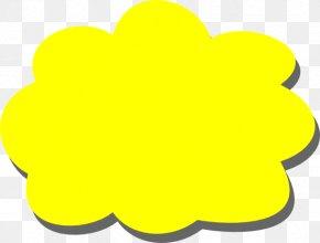 Yellow Clip Art - Yellow Cloud Clip Art PNG