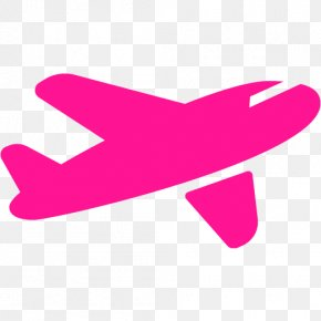 Pink Airplane - Airplane Aircraft ICON A5 Clip Art PNG