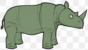 Green Rhino Cliparts - Rhinoceros Borders And Frames Free Content Clip Art PNG