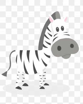 Vector Cartoon Zebra Black And White Stripes - Zebra Black And White Clip Art PNG