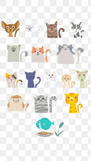 Cute Little Animals - Cat Kitten Drawing Illustration PNG