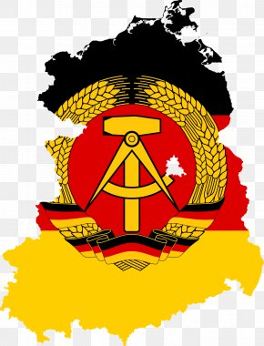 Cold War Berlin Map - East Germany West Germany German Reunification Flag Of Germany PNG