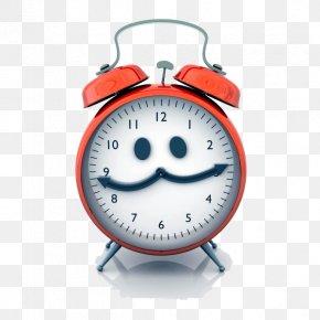 Cute Red Smiley Alarm Clock - Alarm Clock Royalty-free Clip Art PNG