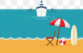 Beach Vacation Vector - Beach Vacation Illustration PNG