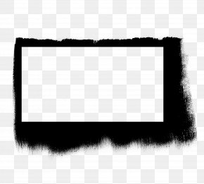Square Frame - Square Black And White Ink PNG