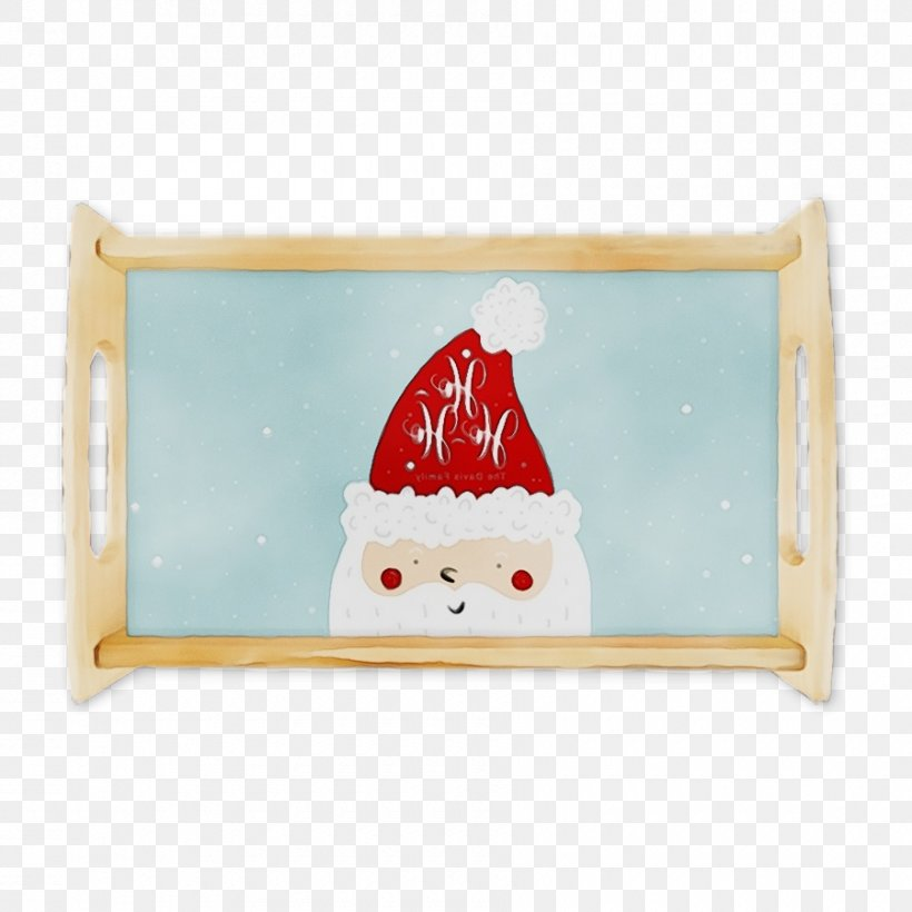 Santa Claus, PNG, 900x900px, Watercolor, Fictional Character, Paint, Plate, Platter Download Free