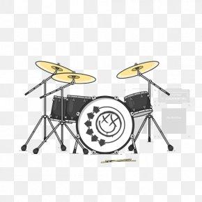 Hand-painted Flat Guitar Drums - Bass Drum Drums Tom-tom Drum Illustration PNG