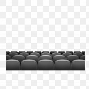 Gray Office Seat Vector Material - Cinema Premiere Illustration PNG