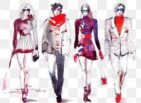 Color Ink Men And Women HD Deduction Material - Fast Fashion Fashion Show Model Fashion Blog PNG
