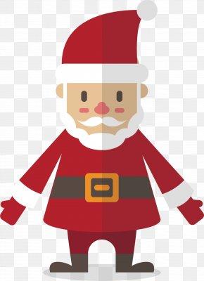 Vector Hand-painted Santa Claus - Santa Claus Christmas Ornament Clip Art PNG