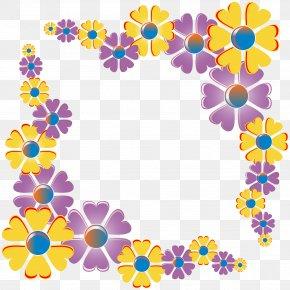 Flower Cliparts Frame - Flower Clip Art PNG