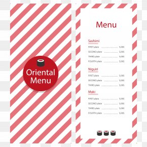 Vector Red Stripes Shading Menu - Menu Red PNG