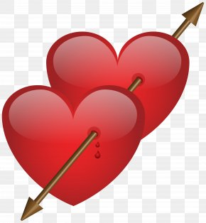 Two Hearts With Arrow Clip Art Image - Hearts And Arrows Clip Art PNG