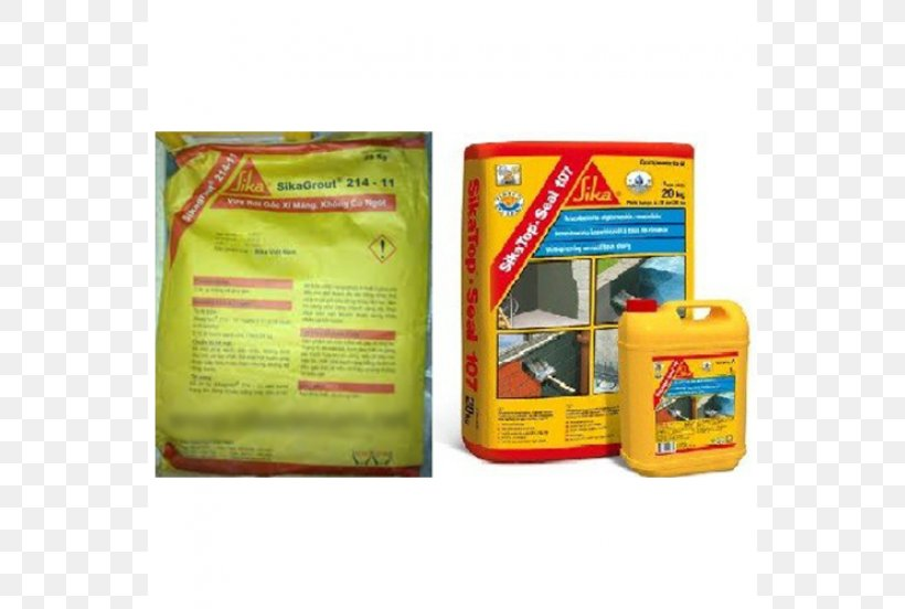 Sika AG Concrete Waterproofing Mortar Cement, PNG, 630x552px
