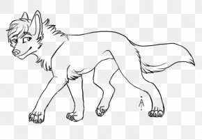 Wolf Cartoon - Line Art Lion Drawing Painting Gray Wolf PNG