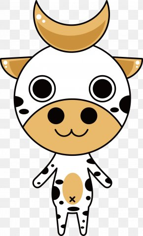 White Cow Vector Illustration - Cattle Animal Clip Art PNG