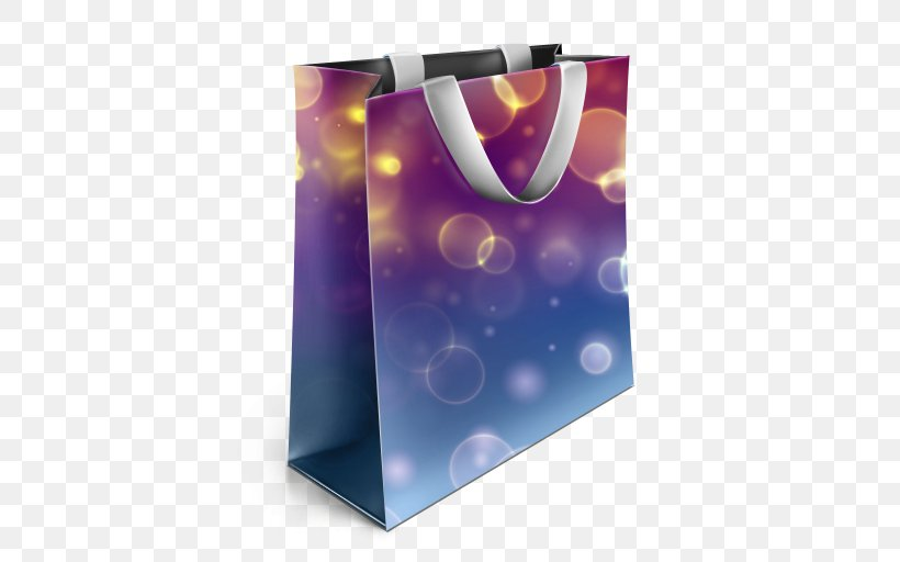 Bag Shopping IPhone Download, PNG, 512x512px, Bag, Handbag, Iphone, Packaging And Labeling, Purple Download Free