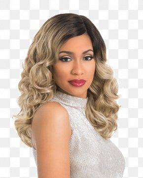 Lace Wig - Lace Wig Blond Artificial Hair Integrations PNG