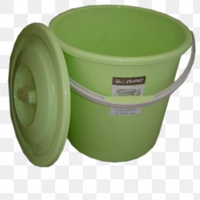 Green Plastic Bucket - Plastic Bucket Barrel Packaging And Labeling PNG