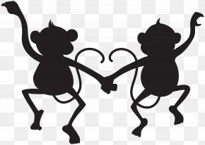 Monkey - Silhouette Clip Art PNG