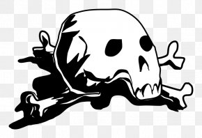 Skull And Crossbones Download Free - Calavera Skull And Crossbones Clip Art PNG