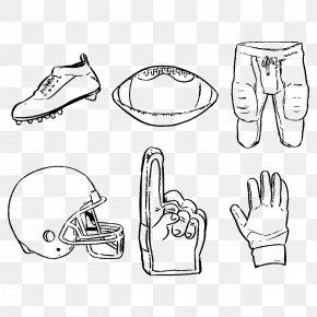 Vector Hand-painted American Football Program - NFL American Football Dallas Cowboys PNG