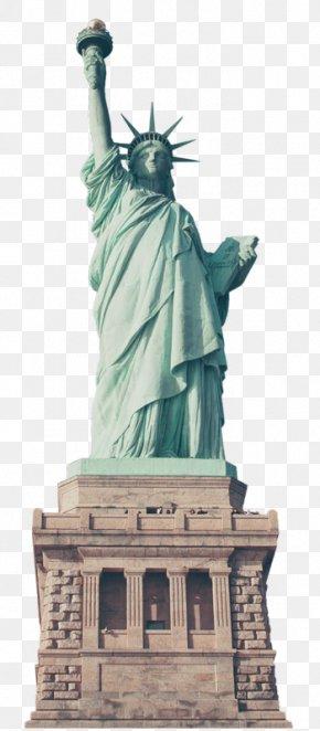 Statue Of Liberty - Statue Of Liberty Eiffel Tower New York Harbor Landmark PNG