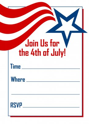 4th Of July Images Free - Wedding Invitation Independence Day Party Birthday Clip Art PNG