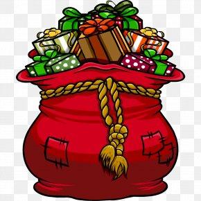 Christmas Bags Cliparts - Santa Claus Bag Gift Toy Clip Art PNG