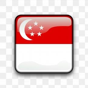 Singapore - Flag Of Singapore Lion Head Symbol Of Singapore National Flag Clip Art PNG