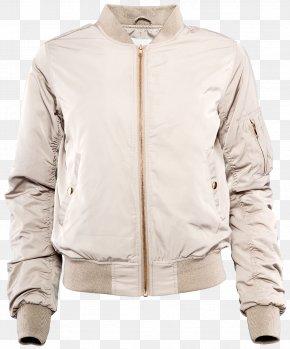Jacket - Leather Jacket Sleeve Beige PNG