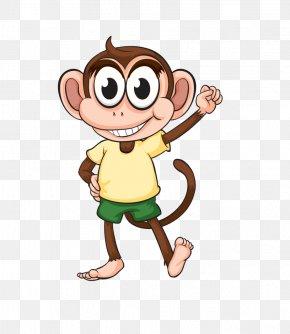 Cute Cartoon Monkey - Monkey Cartoon Ape Gorilla PNG