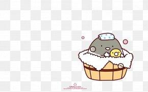 Cheerful Bath - Cartoon Tencent QQ Hello Kitty Sticker Wallpaper PNG