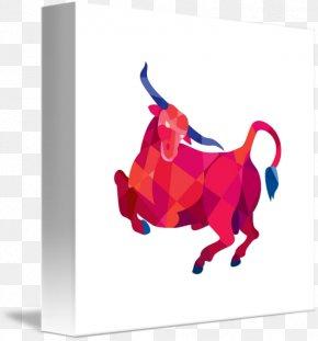 Longhorn - Texas Longhorn Bull Low Poly PNG