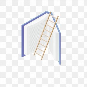 Books And Ladder - Book Stairs Ladder PNG