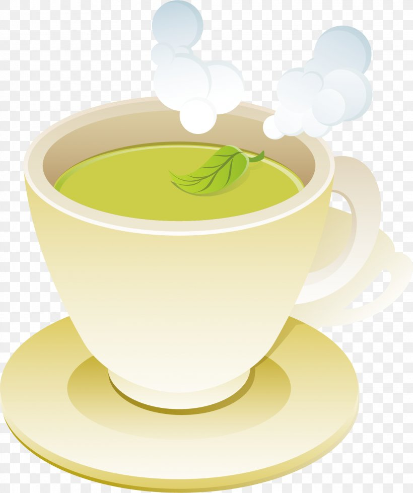 Green Tea Coffee Cup, PNG, 1917x2289px, Tea, Art, Coffee, Coffee Cup, Computer Graphics Download Free