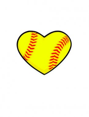 Navy Softball Cliparts - Softball Heart Baseball Sport Clip Art PNG