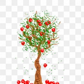 Apple Tree Pic - Apple Tree Autumn Clip Art PNG