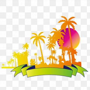 Creative Summer Beach Coconut Tree - Coqueiros Beach Coconut Tree PNG