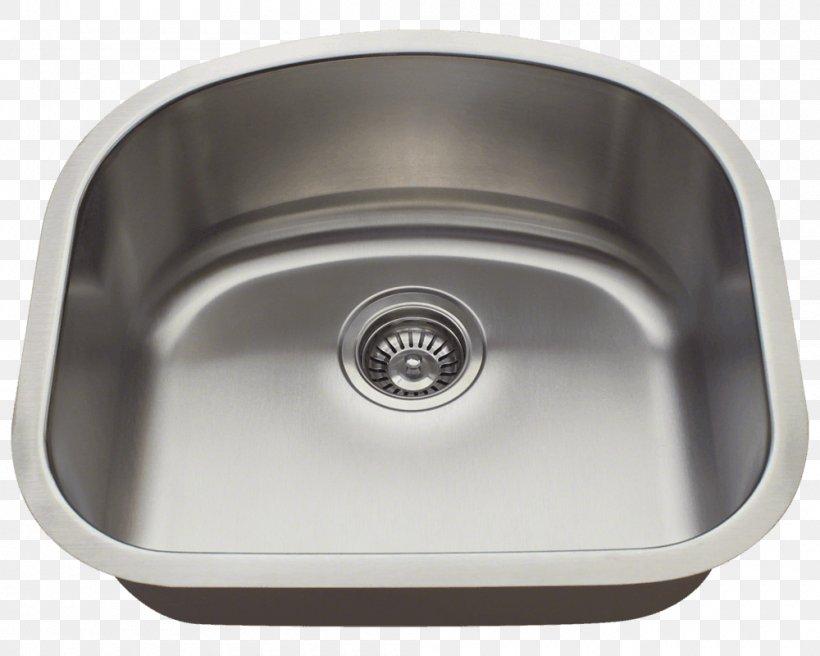 Kitchen Sink Stainless Steel Bowl Sink Brushed Metal, PNG, 1000x800px, Sink, Bathroom Sink, Bowl, Bowl Sink, Brushed Metal Download Free