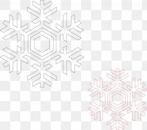 Vector Material Christmas Snowflake - Black And White Symmetry Pattern PNG