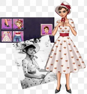 Audrey Hepburn Roman Holiday - Fashion Illustration Barbie Drawing Portrait PNG