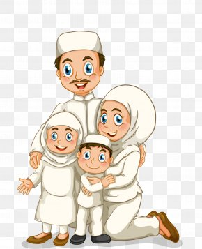 The Islamic Family - Family Stock Photography Muslim Illustration PNG