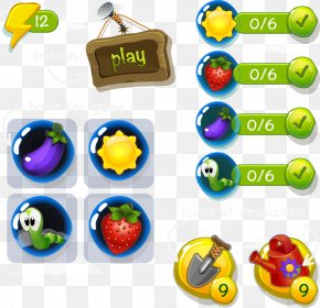 Game UI Button Web Games - User Interface Design Button PNG