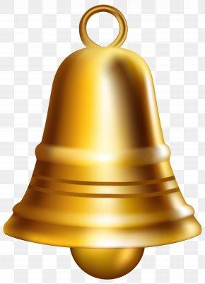 Golden Bell Clip Art Image - Bell Clip Art PNG