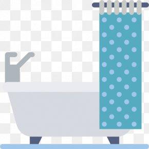 A Light-colored Bathtub - Bathtub Bathroom Shower Douchegordijn Icon PNG