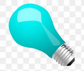 Blue Light Bulb Vector Material - Incandescent Light Bulb Electric Light PNG