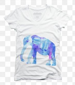T-shirt - T-shirt Watercolor Painting Blue PNG