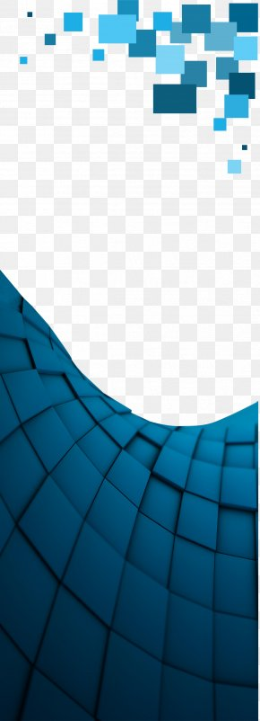 Blue Background Material Lattice - Blue Wallpaper PNG